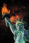 conceptual image of Statue of Liberty